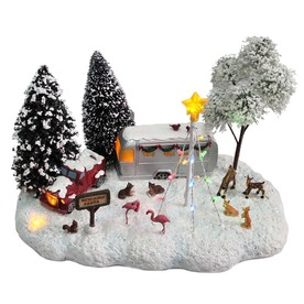 Holiday Living Christmas Resin Lighted Musical Winter Vacation
