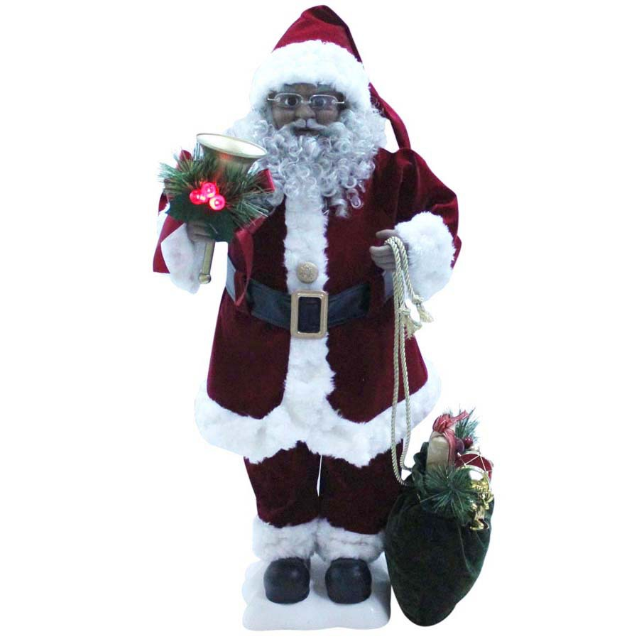 Shop holiday living musical animatronic freestanding santa for Christmas decorations indoor