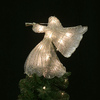 Holiday Living 4-Pack 12.75-in -in Gold Pre-Lit Metal Angel Christmas Tree Topper with White LED Lights