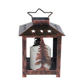 Holiday Living 7-1/2-in Cordless LED Flameless Lantern