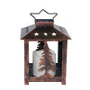 Holiday Living 7.28-in Battery-Operated LED Bronze Electric Pillar Candle with Timer