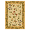 Shaw Living Summer Flowers 46-in x 65-in Rectangular Yellow/Gold Floral Area Rug