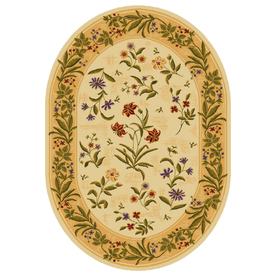Shaw Living Summer Flowers Oval Indoor Tufted Area Rug (Common: 5 x 8; Actual: 65-in W x 92-in L)