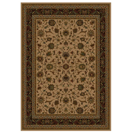 Shaw Living Palace Kashan 3-ft 10-in x 4-ft 6-in Rectangular Beige Transitional Area Rug