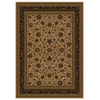 Shaw Living Palace Kashan 46-in x 54-in Rectangular Cream/Beige/Almond Transitional Area Rug