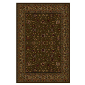 Shaw Living Palace Kashan 46-in x 54-in Rectangular Brown/Tan Transitional Area Rug