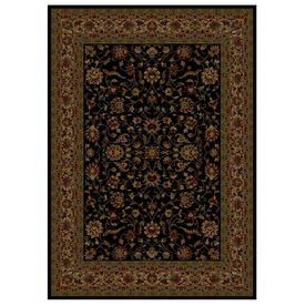 Shaw Living Palace Kashan 6-ft 5-in x 7-ft 7-in Rectangular Black Transitional Area Rug