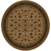 Shaw Living 7-ft 7-in Round Natural Palace Kashan Area Rug