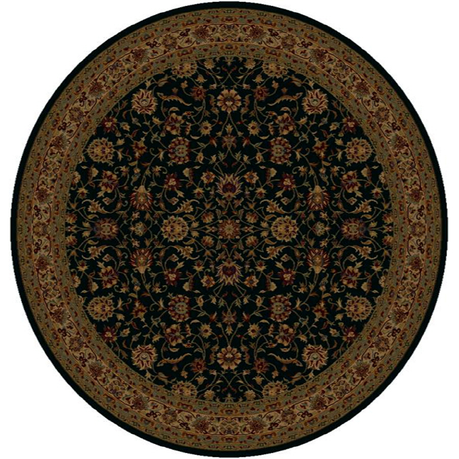 Shop Shaw Living Palace Kashan 7 Ft 7 In X 7 Ft 7 In Round Black Transitional