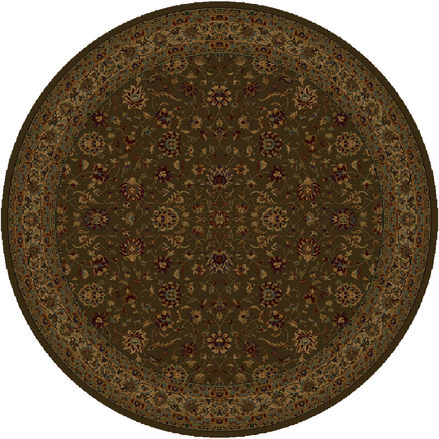 Shop Shaw Living Palace Kashan 7 Ft 7 In X 7 Ft 7 In Round Brown Transitional