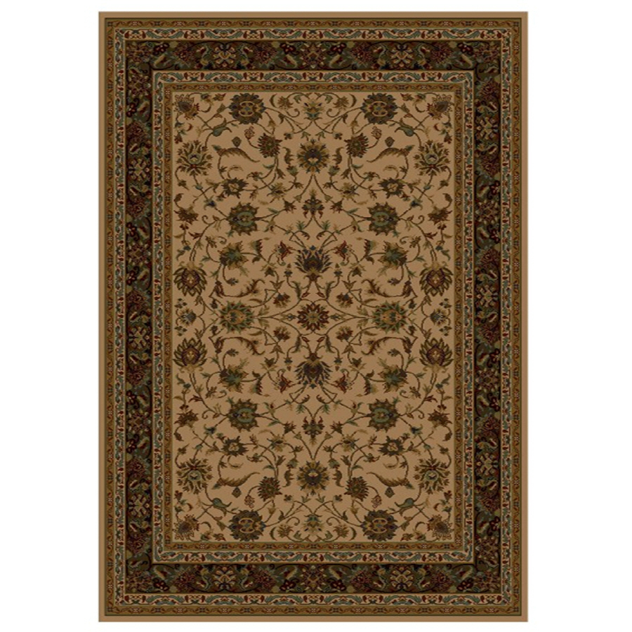 Shop Shaw Living Palace Kashan Rectangular Cream Transitional Woven Area Rug