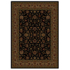 Shaw Living Palace Kashan 111-in x 155-in Rectangular Black Transitional Area Rug