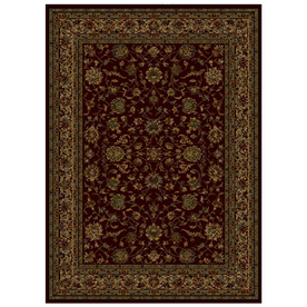 Shaw Living Palace Kashan 3-ft 10-in x 4-ft 6-in Rectangular Red Transitional Area Rug