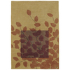 Shaw Living 5-ft x 8-ft Gold Haiku Area Rug