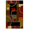 Shaw Living Pulsar Rectangular Multicolor Area Rug