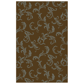 Shaw Living 7-ft 8-in x 5-ft 5-in Chocolate Newport Area Rug