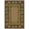 Shaw Living Leaf Point 63-in x 91-in Rectangular Brown/Tan Transitional Area Rug