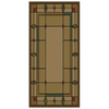 Shaw Living Leaf Point 110-in x 155-in Rectangular Brown/Tan Transitional Area Rug