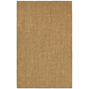 Shaw Living 5-ft x 8-ft Gold RatTan Area Rug