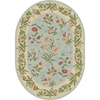 Shaw Living Summer Flowers 65-in x 92-in Oval Blue Floral Area Rug