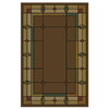 Shaw Living Leaf Point 9-ft x 13-ft Chocolate Leaf Point Loden Area Rug
