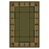 Shaw Living Leaf Point 63-in x 91-in Rectangular Green Transitional Area Rug