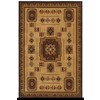 Shaw Living Pueblo 94-in x 130-in Rectangular Brown/Tan Border Area Rug