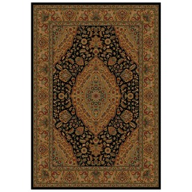 Shaw Living Zanzibar 5-ft 5-in x 7-ft 7-in Rectangular Black Border Area Rug