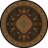 Shaw Living 7-ft 7-in Black Zanzibar Area Rug