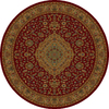 Shaw Living 7-ft 7-in Round Burgundy Zanzibar Area Rug