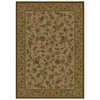 Shaw Living Alice 63-in x 94-in Rectangular Cream/Beige/Almond Floral Area Rug