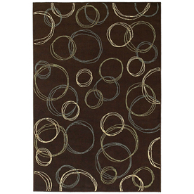 Shaw Living Ashford Park Rectangular Brown Geometric Woven Area Rug (Common: 8-ft x 10-ft; Actual: 7.75-ft x 10.83-ft)