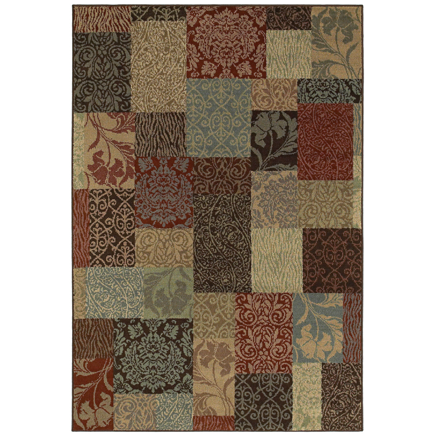 Shop Shaw Living Chloe 7 Ft 9 In X 10 Ft 10 In Rectangular Multicolor Block A
