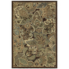 Shaw Living Marrakech 63-in x 94-in Rectangular Brown/Tan Floral Area Rug