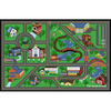 Style Selections My Town Rectangular Green Accent Rug