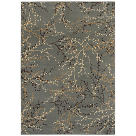 Shaw Living 8-ft x 11-ft Blue Berries Area Rug
