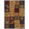 Shaw Living Oakton 60-in x 96-in Rectangular Multicolor Block Area Rug