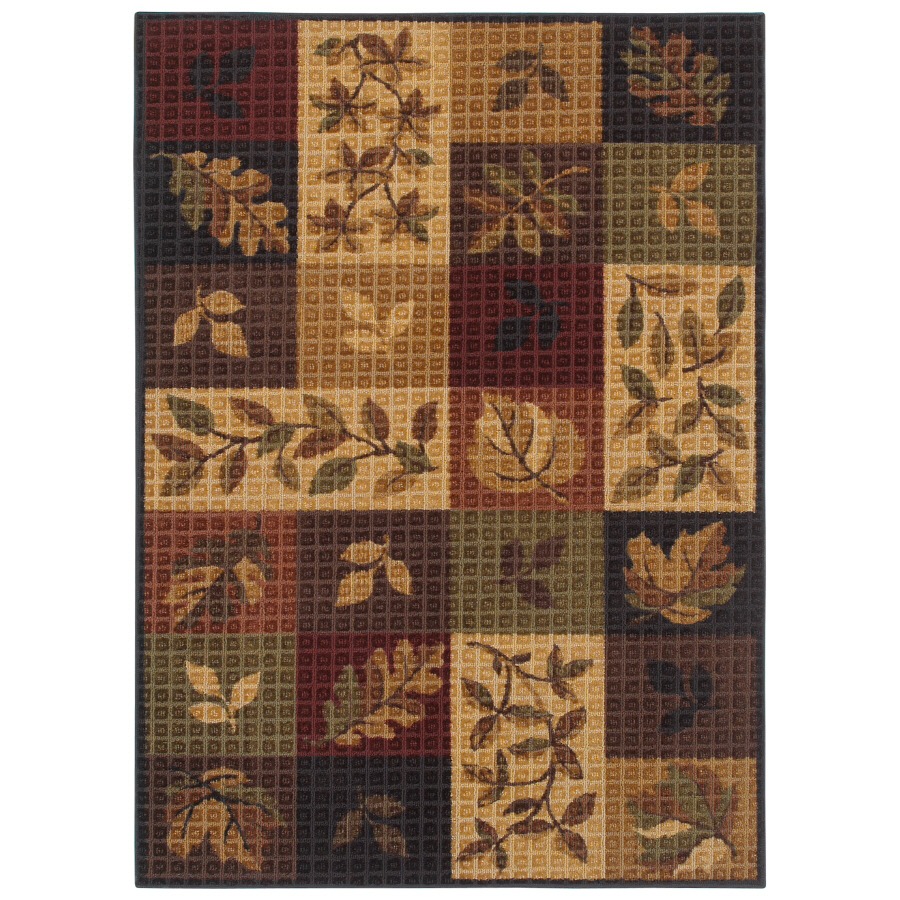 Shop Shaw Living Oakton Rectangular Multicolor Block Tufted Area Rug Common