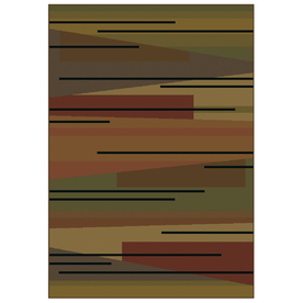 Shaw Living Zesto Stripe Rectangular Woven Throw Rug (Common: 2 x 4; Actual: 23-in W x 38-in L)