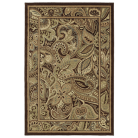 Shaw Living Paisley Park 9-ft 2-in x 12-ft Rectangular Multicolor Floral Area Rug