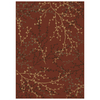 Shaw Living 5-ft 3-in x 7-ft 10-in Red Berries Area Rug