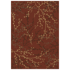 Shaw Living Berries Rectangular Red Transitional Woven Area Rug (Common: 9-ft x 12-ft; Actual: 9.16-ft x 12-ft)
