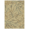 Shaw Living 7-ft 10-in x 10-ft 10-in Beige Berries Area Rug