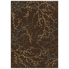 Shaw Living 7-ft 10-in x 10-ft 10-in Brown Berries Area Rug