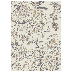 "Shaw Living 7'10"" x 10'10"" Midnight Bloom Alabaster Stone Area Rug"