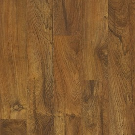 Style Selections 5.43-in W x 3.976-ft L Brazilian Teak Embossed Laminate Floor Wood Planks