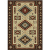 Shaw Living El Dorado 47-in x 63-in Rectangular Brown/Tan Border Area Rug