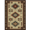 Shaw Living El Dorado 63-in x 94-in Rectangular Brown/Tan Border Area Rug