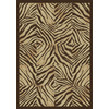 Shaw Living Zebra Quilt 7-ft 10-in x 10-ft 10-in Rectangular Multicolor Block Area Rug