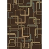 Shaw Living Silhouettes 3-ft 11-in x 5-ft 3-in Rectangular Tan Geometric Area Rug